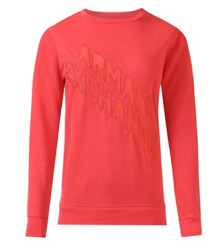 Armani Exchange Coral Diagonal Action Logo Sweatshirt