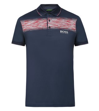 Boss Green Navy Regular Fit Paddy Pro 4 Polo T-Shirt