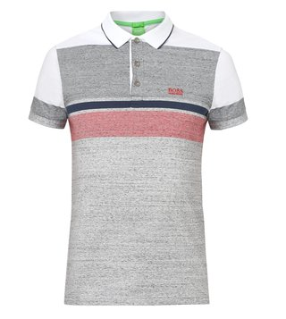 Boss Green Grey Slim Fit Paule-1 Polo T-Shirt
