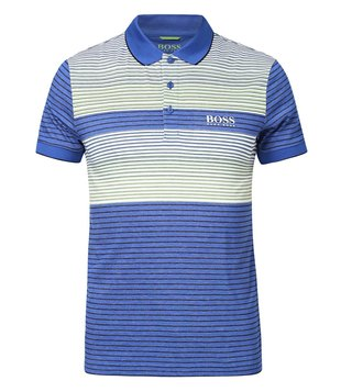 Boss Green Blue Regular Fit Paddy Pro Polo T-Shirt