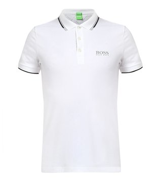 BOSS Green White Regular Fit Paddy Pro Polo T-Shirt
