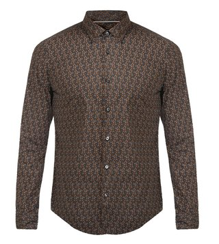 Hugo Boss Brown Slim Fit Ronni F Shirt