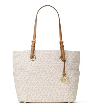 MICHAEL Michael Kors Vanilla Jet Set Item Large Tote Bag