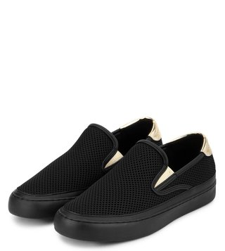 Armani Exchange Nero Metallic Accent Mesh Loafers