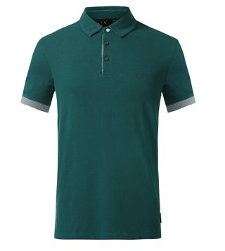 Armani Exchange Green Hem Polo T-Shirt