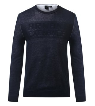 Armani Exchange Navy Crew Neck Sweatshirt
