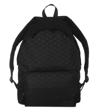 Armani Exchange Black Logo Print Backpack