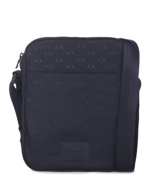 6e96f0efb4f6 Armani Exchange Navy Logo Print Crossbody Bag ...