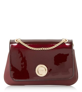 Dune London Berry Plain Synthetic Small Elfina Shoulder Bag