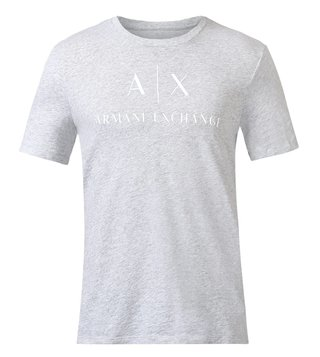 Armani Exchange Grey Cotton T-Shirt