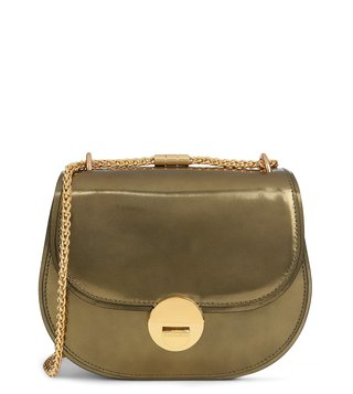 Coccinelle Gold Violaine Mirror Crossbody Bag