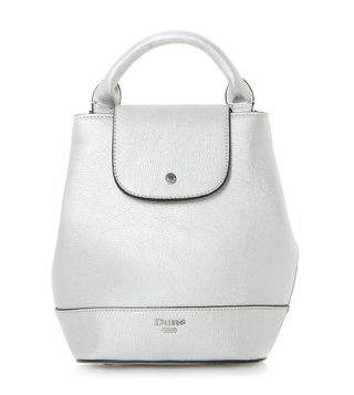 Dune London Silver Small Dieber Backpack