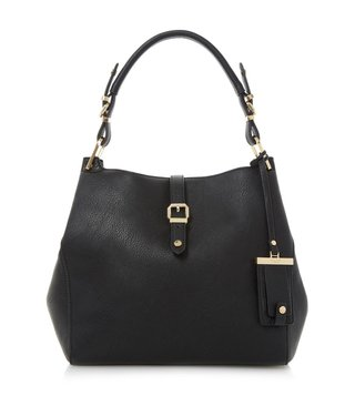 Dune London Black Large Dessa Shoulder Bag