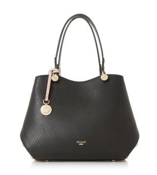 Dune London Black Synthetic Large Dimogen Shoulder Bag