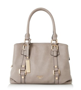 Dune London Grey Plain Synthetic Large Dannah Satchel