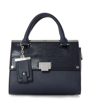 Dune London Navy Plain Synthetic Small Dinidonovan Satchel