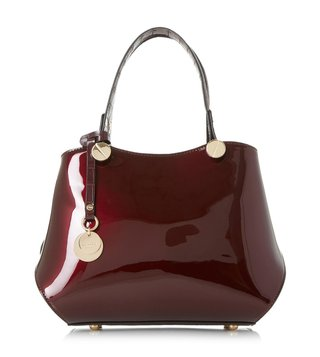 Dune London Berry Patent Medium Dinidimogen Satchel