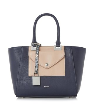 Dune London Navy Small Deanne Satchel