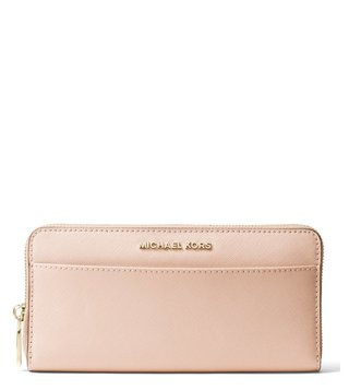MICHAEL Michael Kors Soft Pink Jet Set Leather Small Wallet