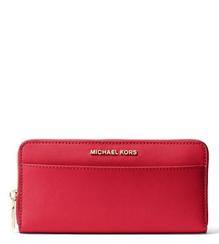 MICHAEL Michael Kors Bright Red Jet Set Leather Small Wallet