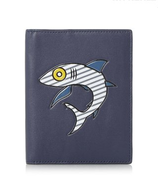 Kit Neale X Dune London Navy Koi Small Passport Holder