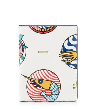 Kit Neale X Dune London White Triggers Small Passport Holder
