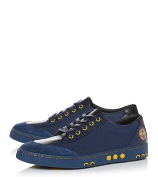 Kit Neale X Dune London Navy Canvas Tetra Sneakers