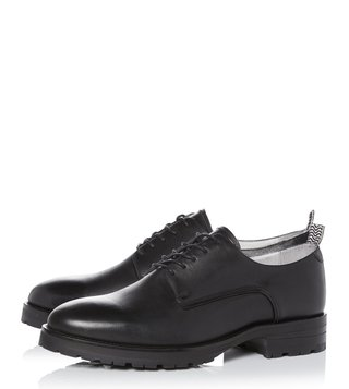 Kit Neale X Dune London Black Leather Pike Derby Shoes