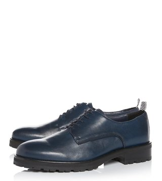 Kit Neale X Dune London Navy Leather Pike Derby Shoes