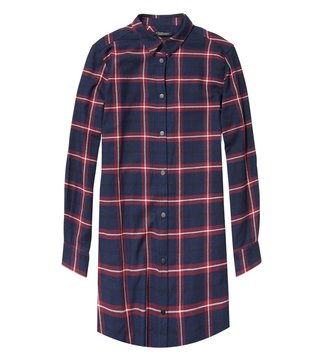 Scotch & Soda Navy & Red Soft Brushed Checks Dress