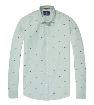 Scotch & Soda Green Regular Fit Shirt