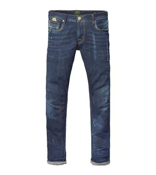 Scotch & Soda Blue Lot 22 Tye Roadrunner Jeans