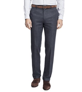 Brooks Brothers Grey Regent Fit Stretch Flannel Trousers