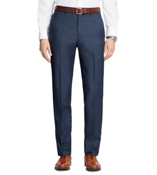Brooks Brothers Blue Regent Fit Houndscheck Trousers