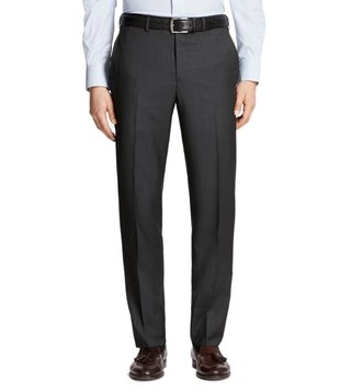 Brooks Brothers Charcoal Regent Fit Houndscheck Trousers