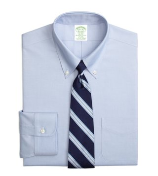 Brooks Brothers Blue Non-Iron Milano Fit Dress Shirt