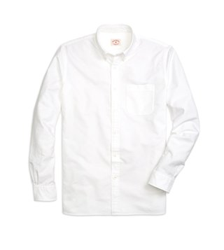 Brooks Brothers Red Fleece White Oxford Sport Shirt