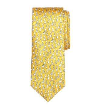Brooks Brothers Yellow Giraffe Print Tie