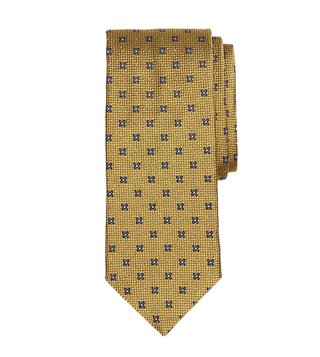 Brooks Brothers Yellow X And Dot Tie