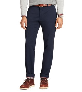 Brooks Brothers Red Fleece Navy Flannel Lined Chinos