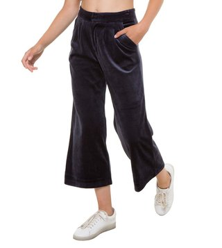 Juicy Couture Regal Velour Cropped Wide Leg Pants
