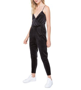 Juicy Couture Black Velour Cami Jumpsuit