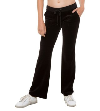 Juicy Couture Black Velour Del Rey Pants