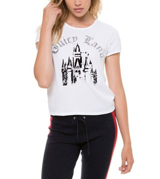 Juicy Couture White Juicyland Graphic Tee