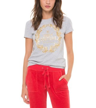 Juicy Couture Grey Wreath Cameo Classic Tee
