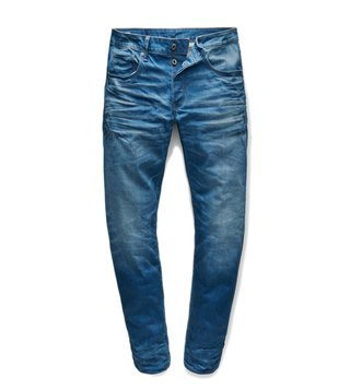 G-Star RAW Blue 3301 Medium Vintage Aged Straight Fit Jeans