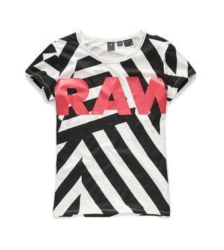 G-Star RAW Black & White Dazzle X25 Straight Fit T-Shirt