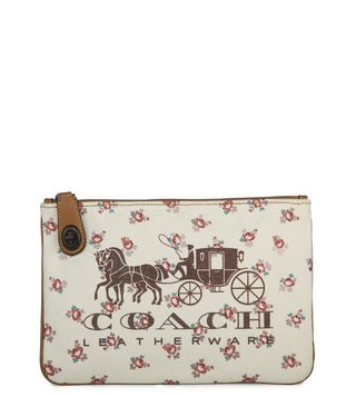 Coach Chalk Carriage Turnlock Pouch