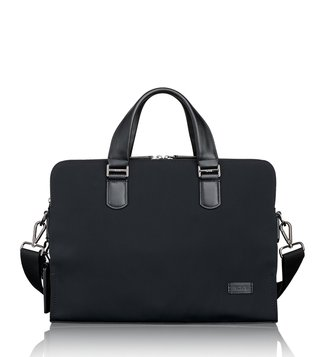 Tumi Black Nylon Seneca Slim Laptop Brief