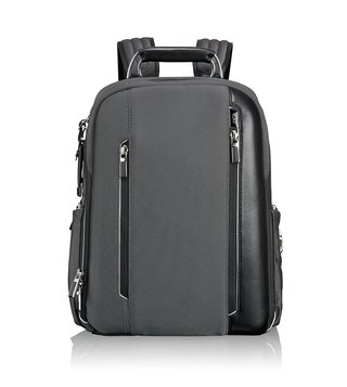 Tumi Pewter Arrive Business Logan Backpack